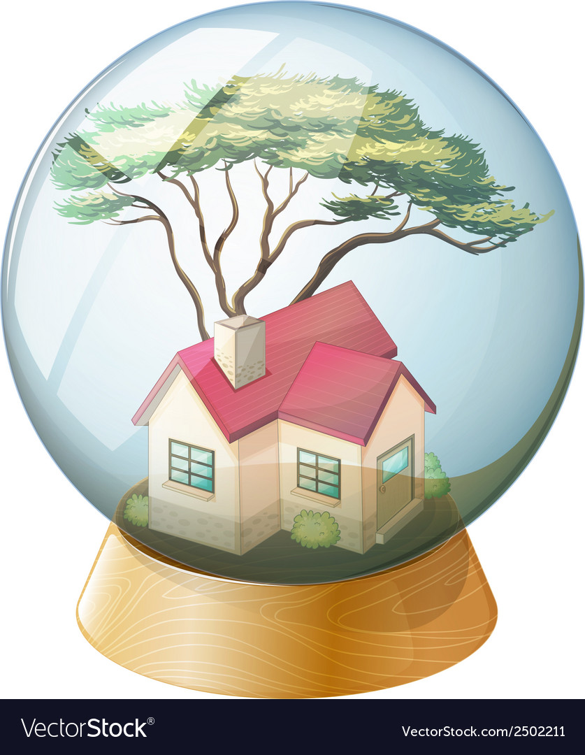 A crystal ball with a house vector | Price: 1 Credit (USD $1)