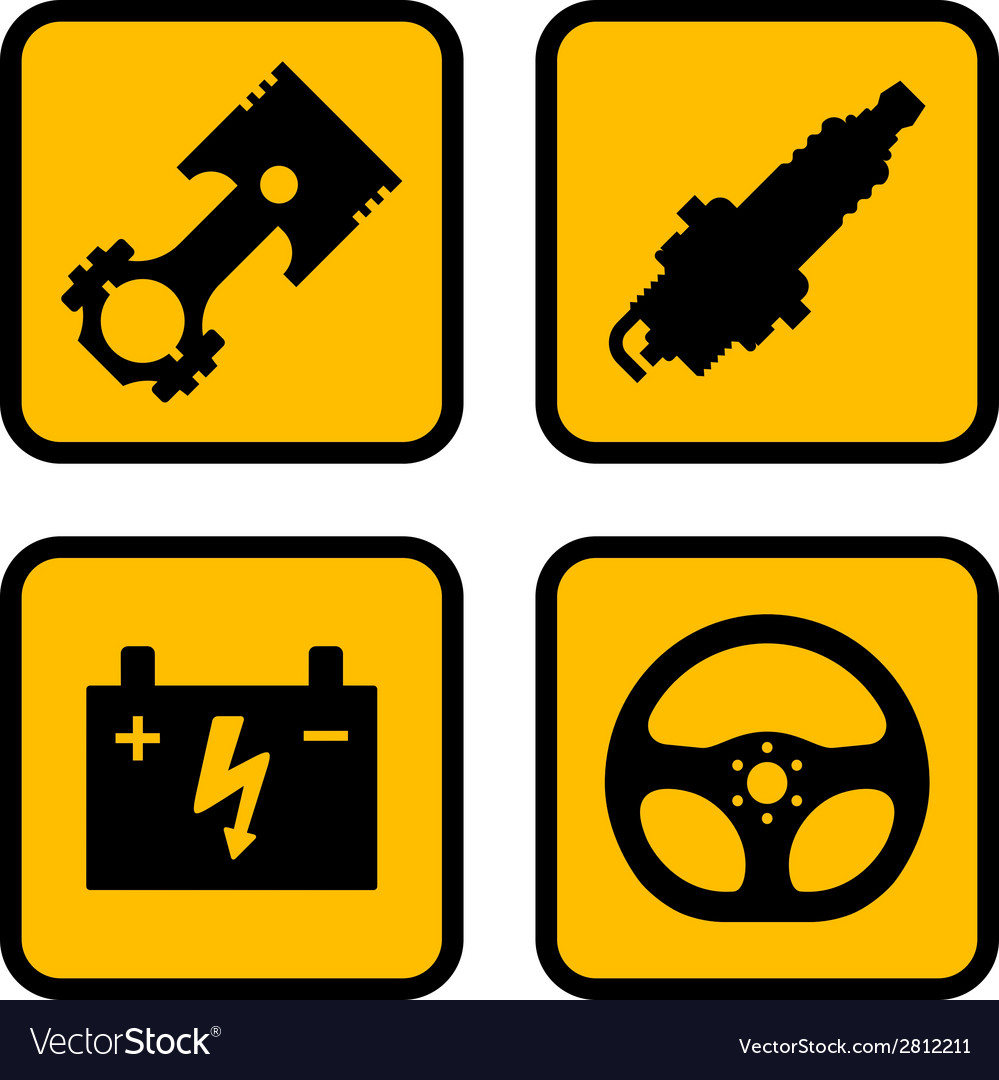 Car part symbols vector | Price: 1 Credit (USD $1)