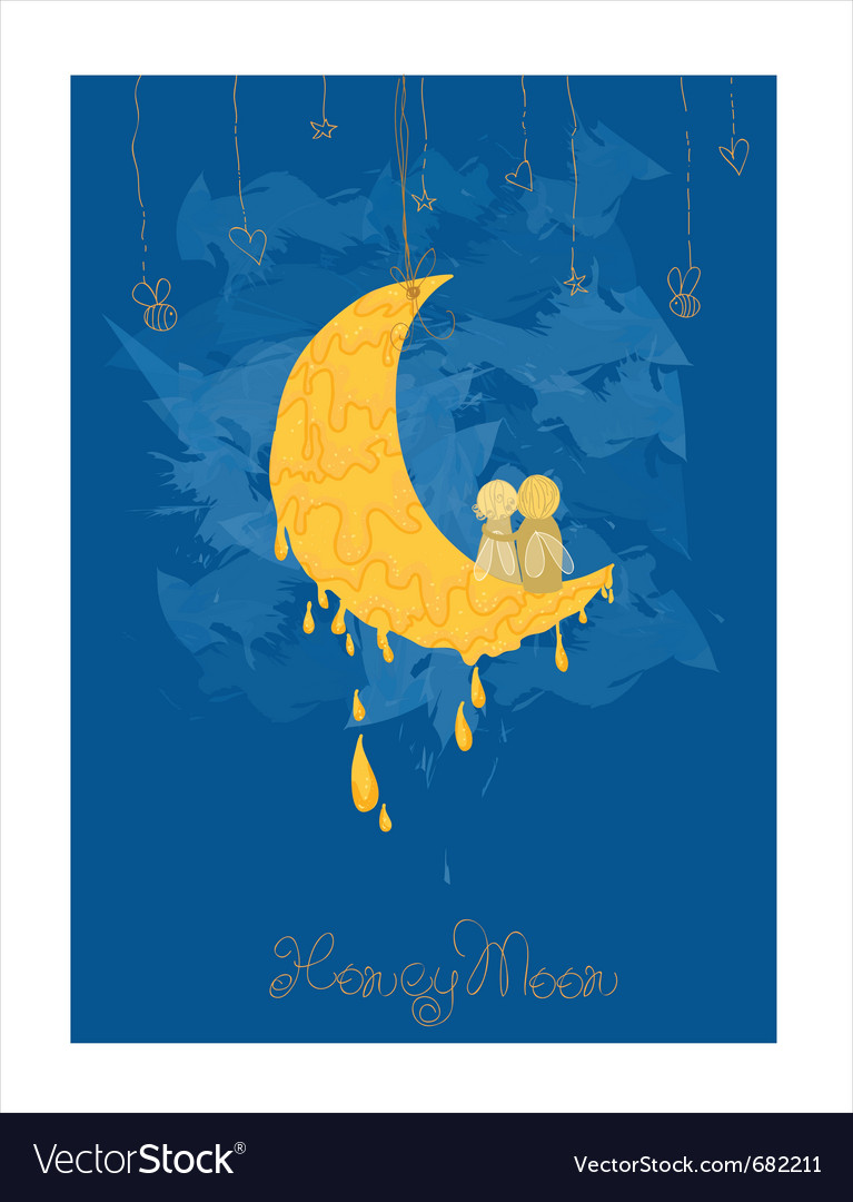 Cute honeymoon postcard in vector | Price: 1 Credit (USD $1)