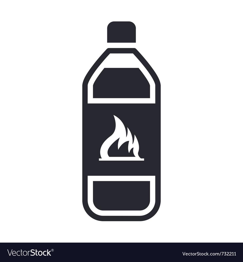 Dangerous bottle icon vector | Price: 1 Credit (USD $1)