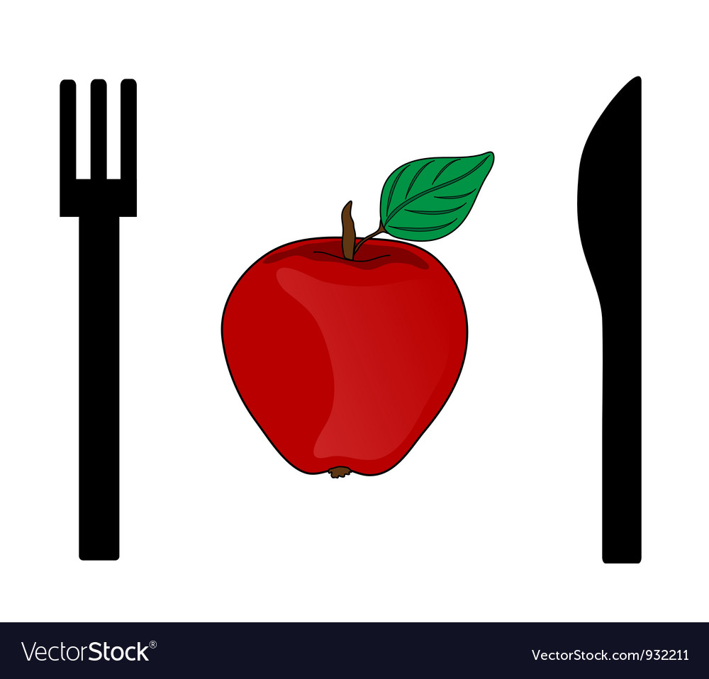 Eating apple vector | Price: 1 Credit (USD $1)