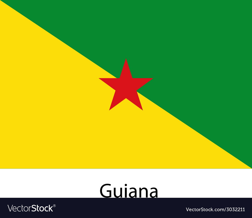 Flag of the country guiana vector | Price: 1 Credit (USD $1)
