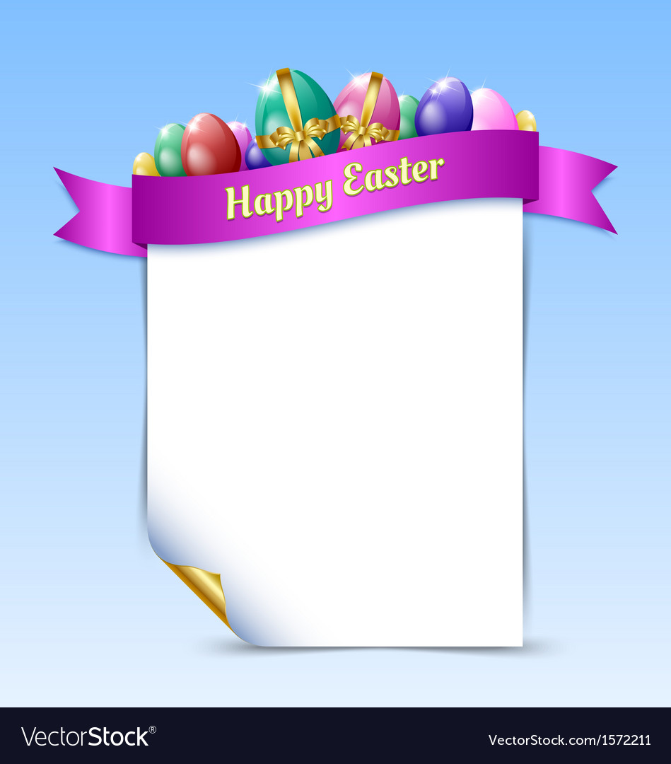 Happy easter document template vector | Price: 1 Credit (USD $1)