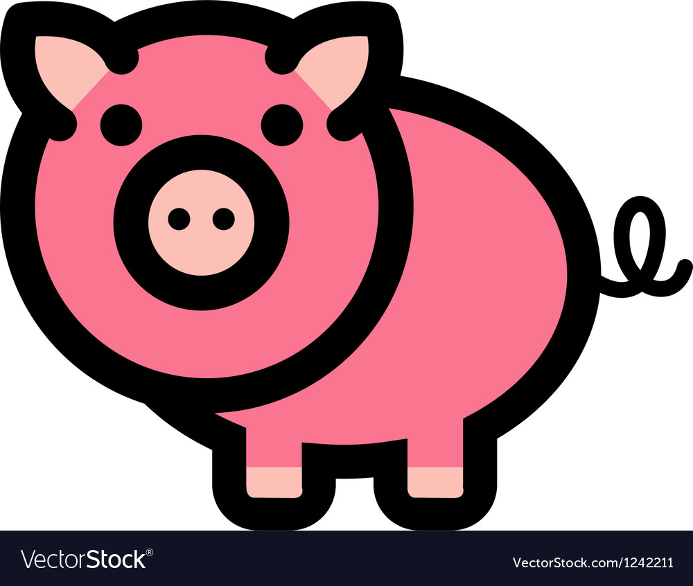 Pig logo vector | Price: 1 Credit (USD $1)