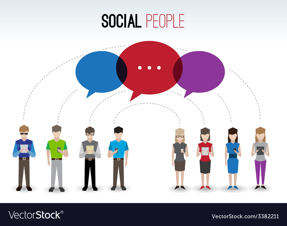 Social people concept vector | Price: 1 Credit (USD $1)