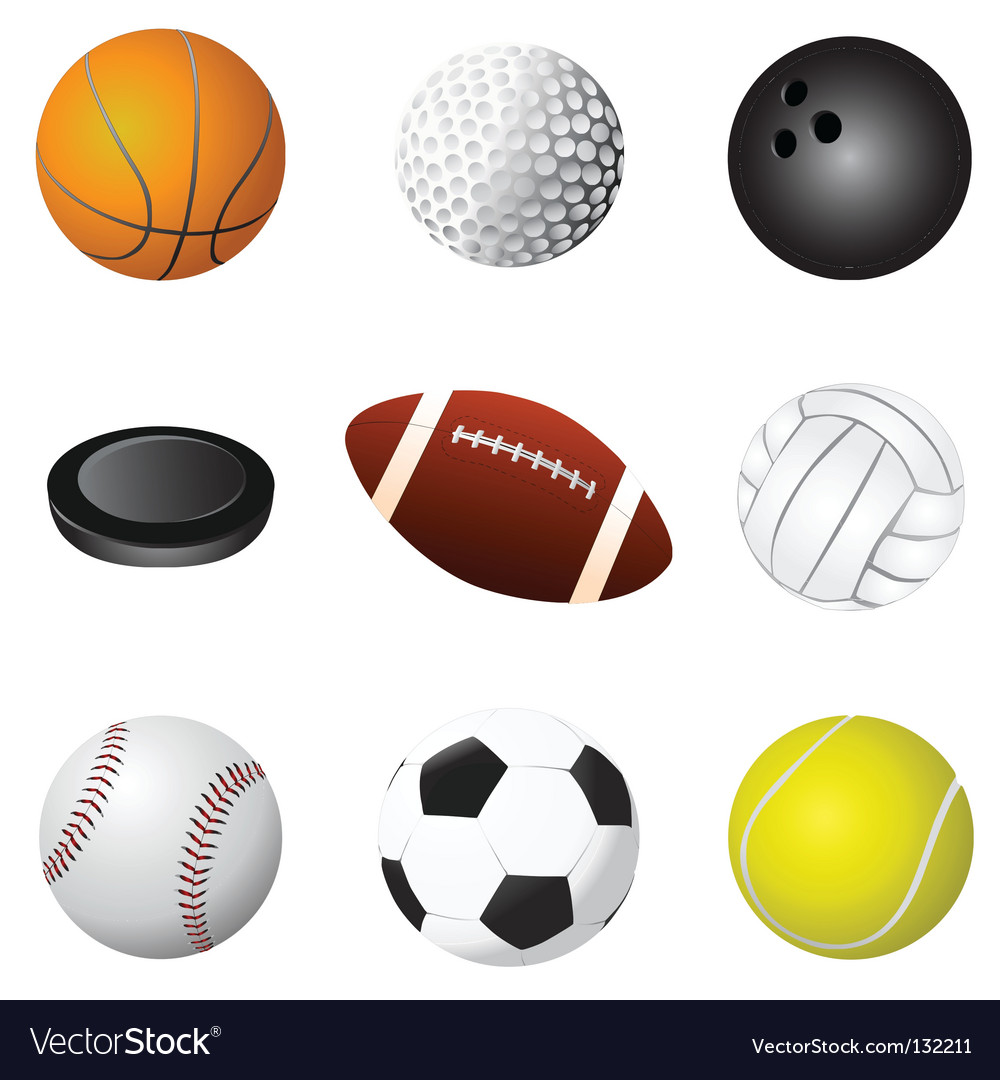 Sport balls detail vector | Price: 1 Credit (USD $1)