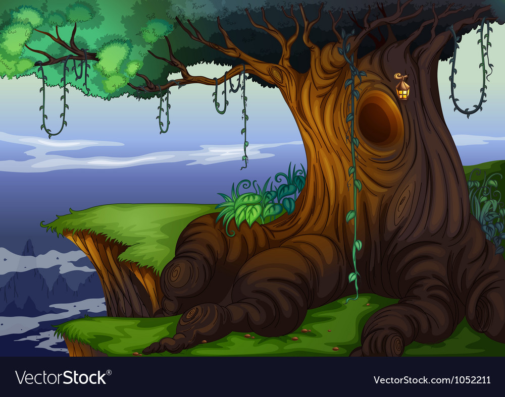 Tree hollow vector | Price: 3 Credit (USD $3)
