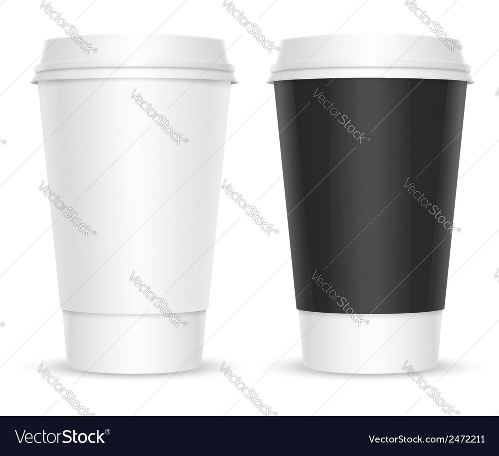 Two cups of coffee vector | Price: 1 Credit (USD $1)
