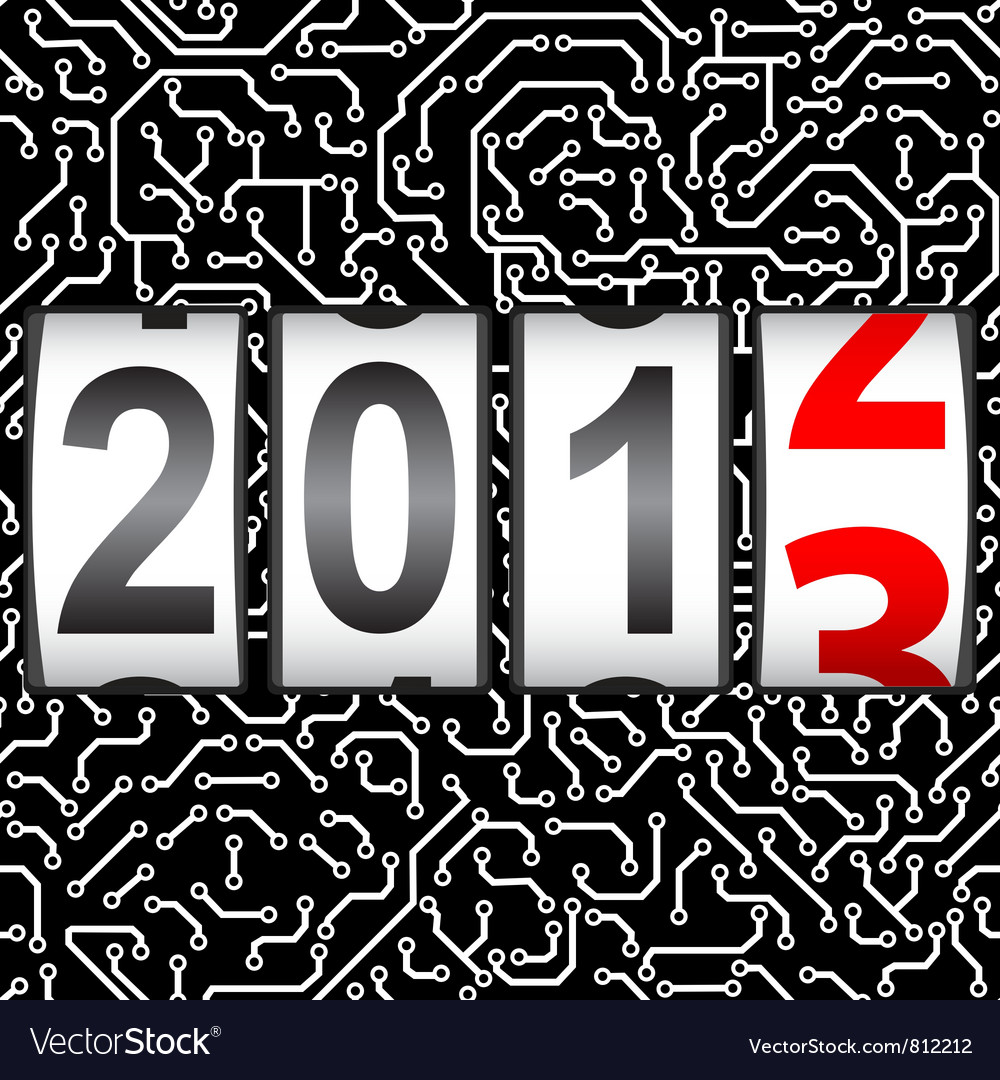 2013 new year counter vector | Price: 1 Credit (USD $1)