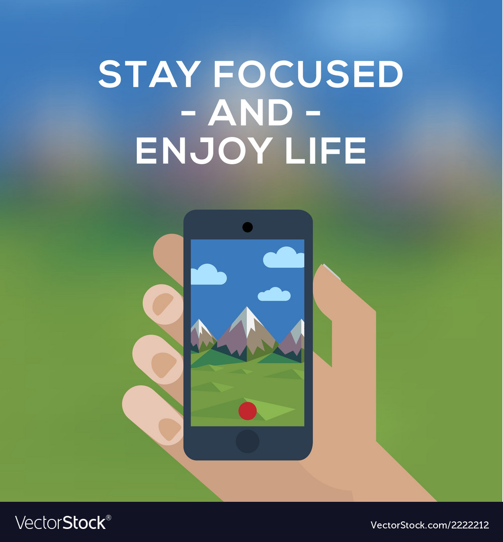 Adventure travel concept smartphone make picture vector | Price: 1 Credit (USD $1)