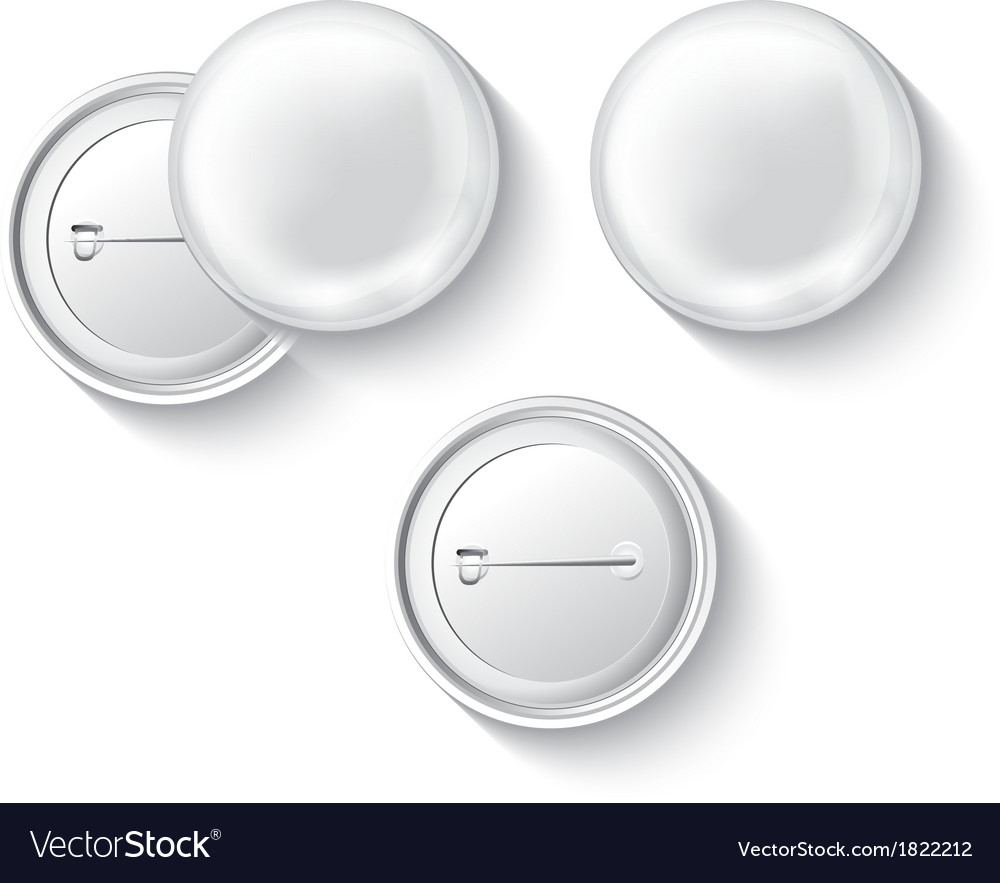 Blank button badge vector | Price: 1 Credit (USD $1)