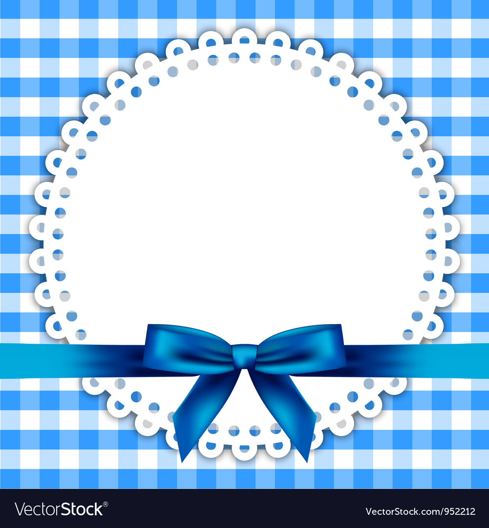 Blue napkin frame vector | Price: 1 Credit (USD $1)