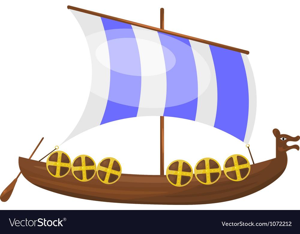 Cartoon viking ship eps10 vector | Price: 1 Credit (USD $1)