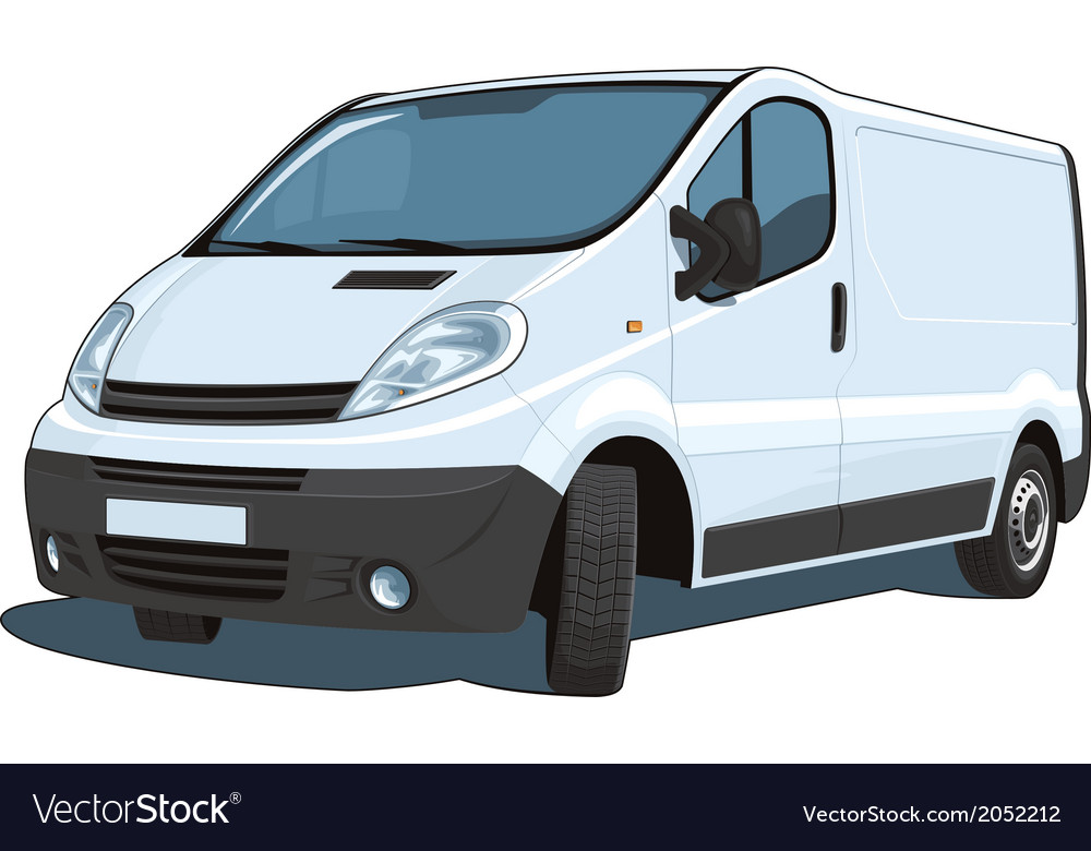 Commercial van vector | Price: 3 Credit (USD $3)