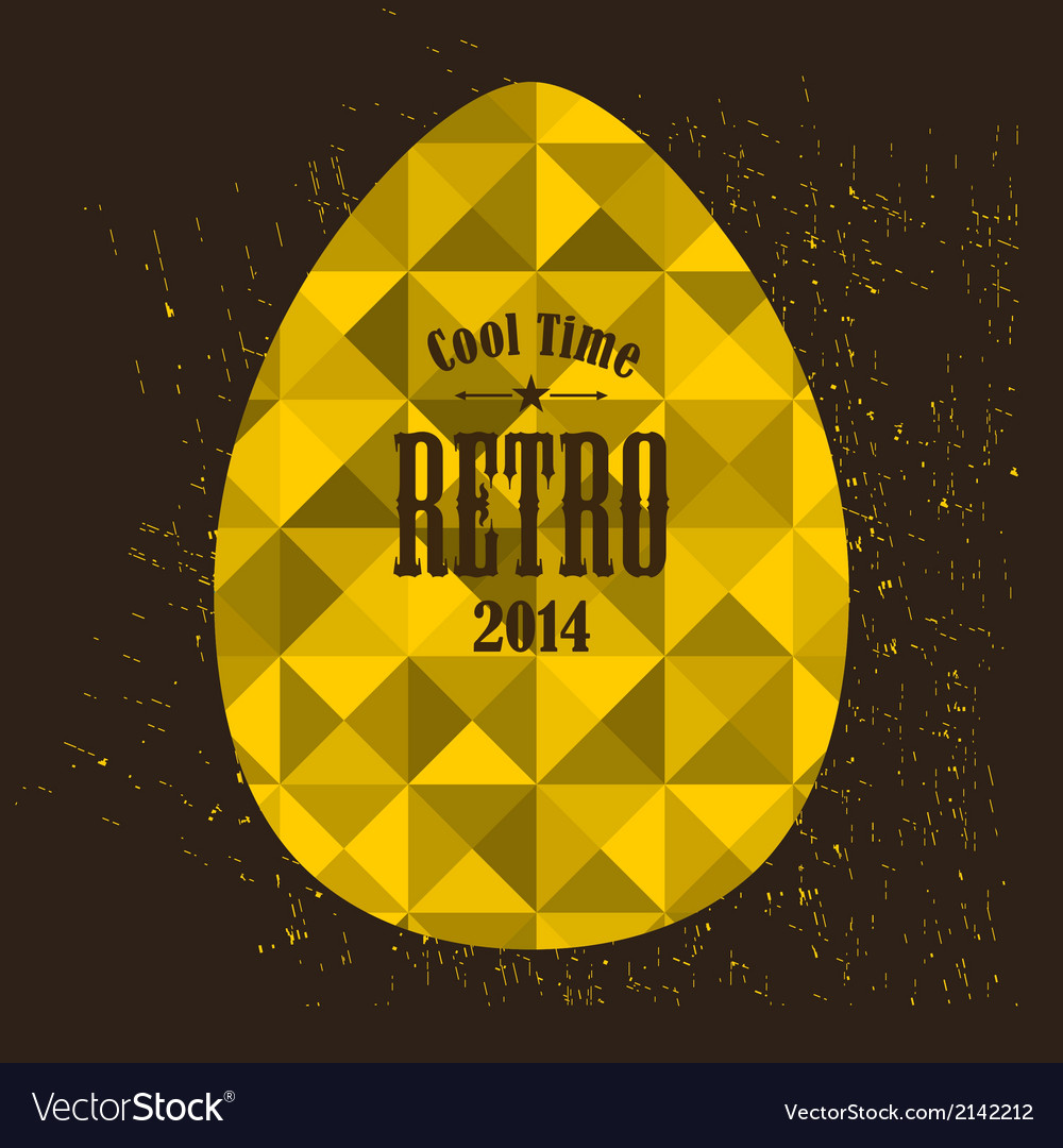 Easter egg in retro style vector | Price: 1 Credit (USD $1)