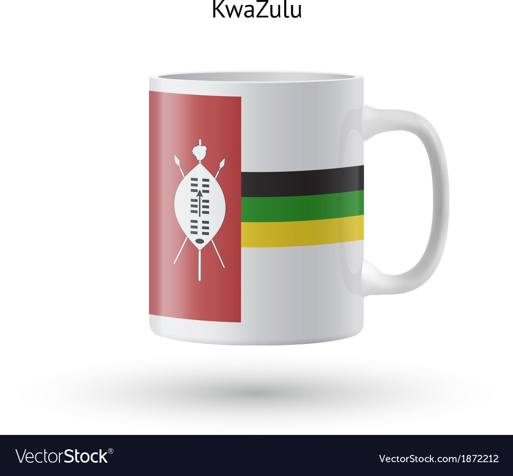 Kwazulu flag souvenir mug on white background vector | Price: 1 Credit (USD $1)