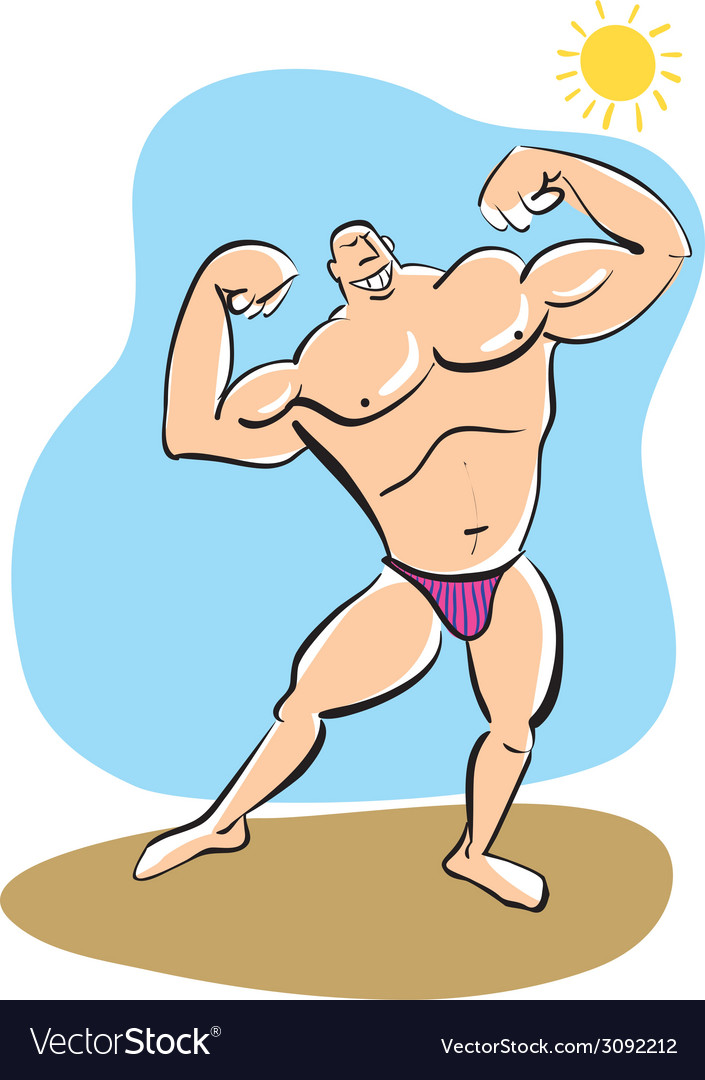 Muscleman vector | Price: 1 Credit (USD $1)