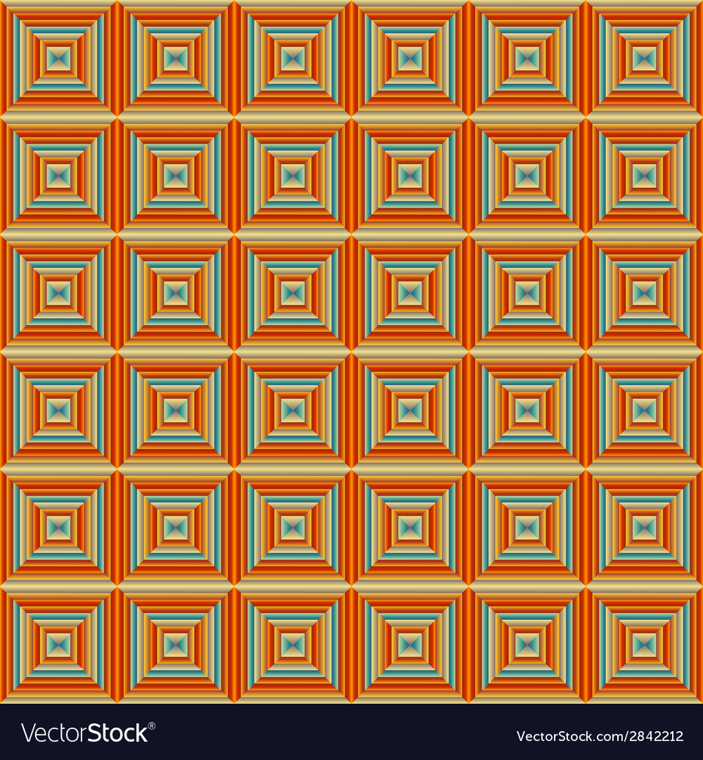 Seamless squared orange pattern vector | Price: 1 Credit (USD $1)