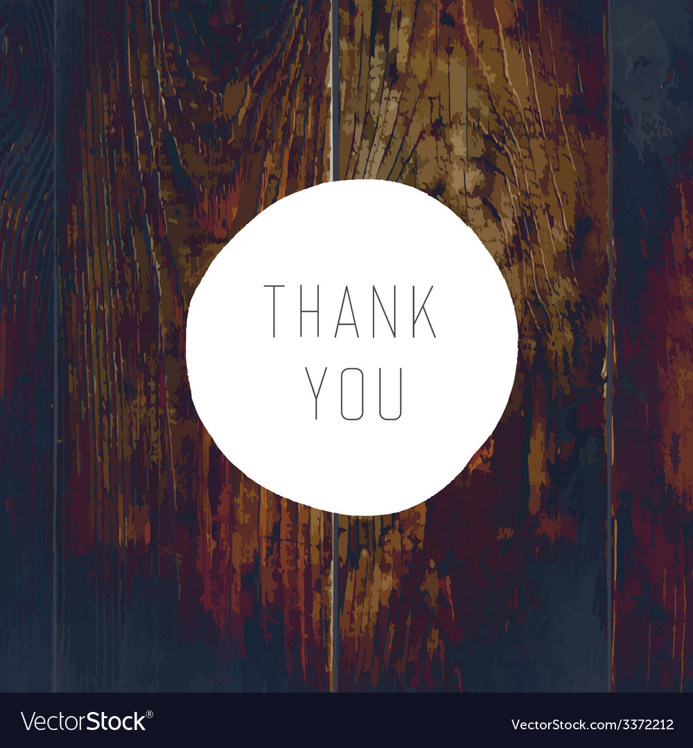 Thank you card cross process wooden texture vector | Price: 1 Credit (USD $1)
