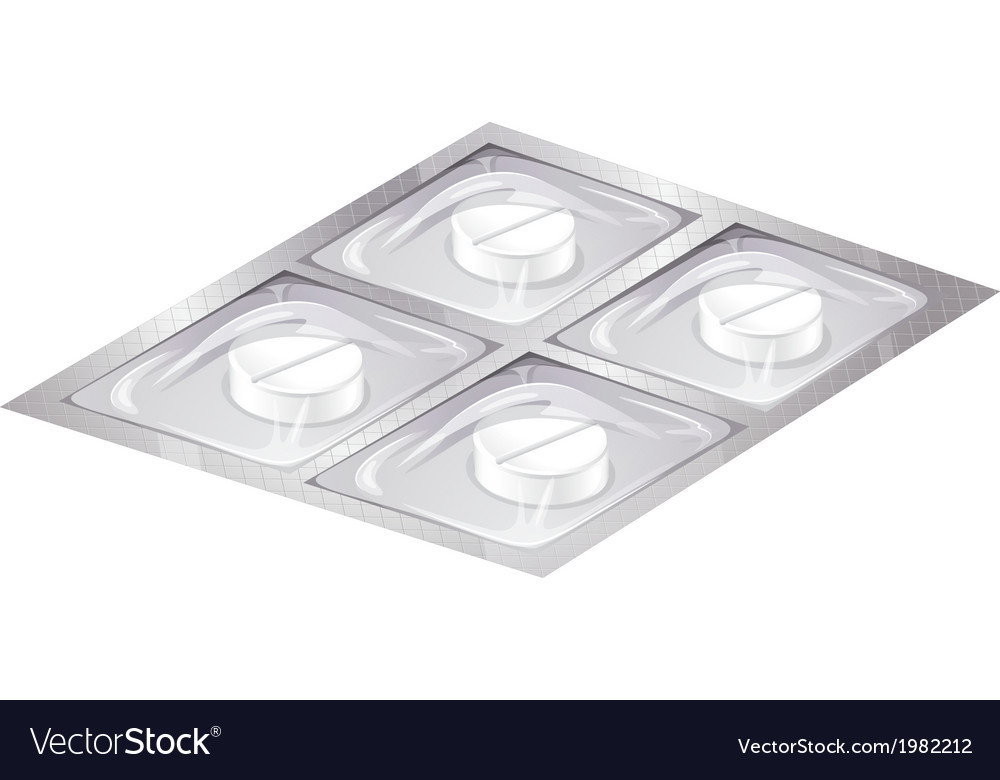 Tray of medicine vector | Price: 1 Credit (USD $1)