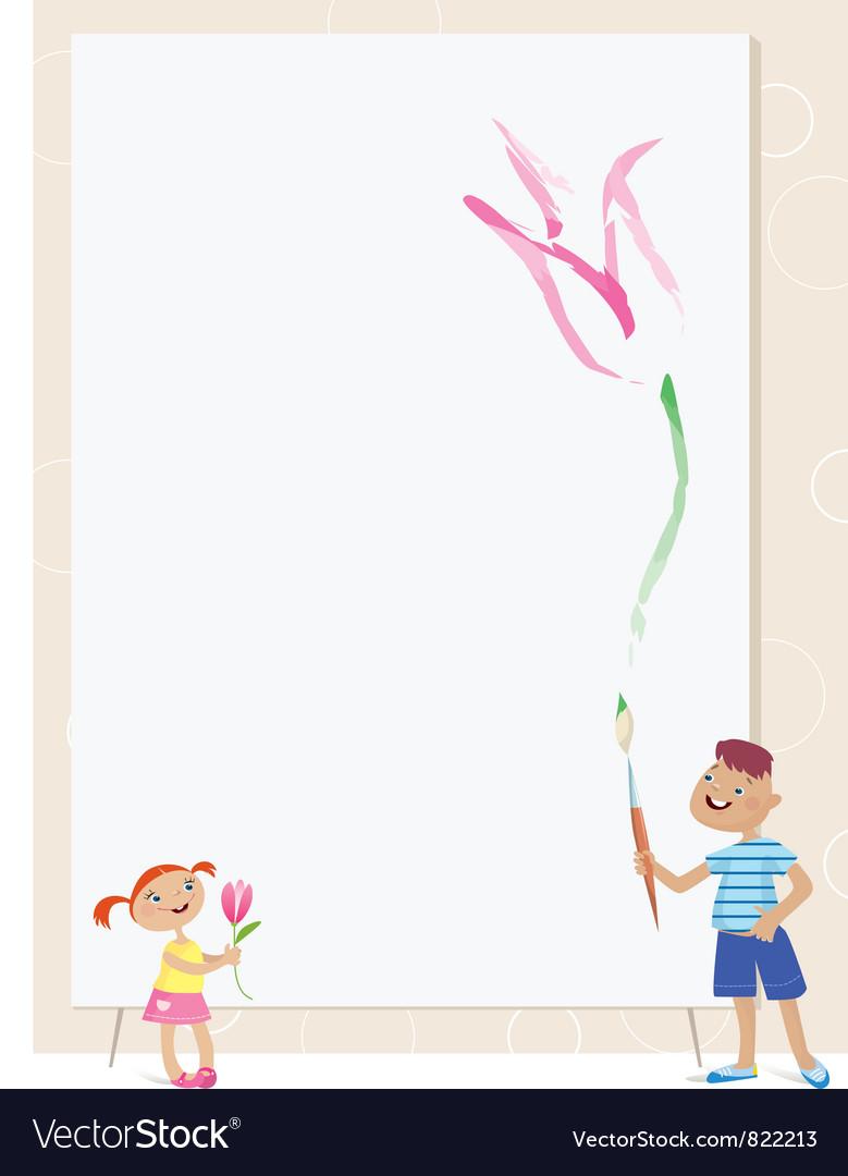 Children drawing vector | Price: 1 Credit (USD $1)