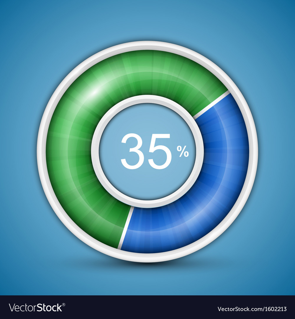 Circular progress bar vector | Price: 1 Credit (USD $1)