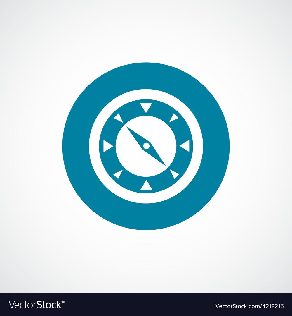 Compass icon bold blue circle border vector | Price: 1 Credit (USD $1)