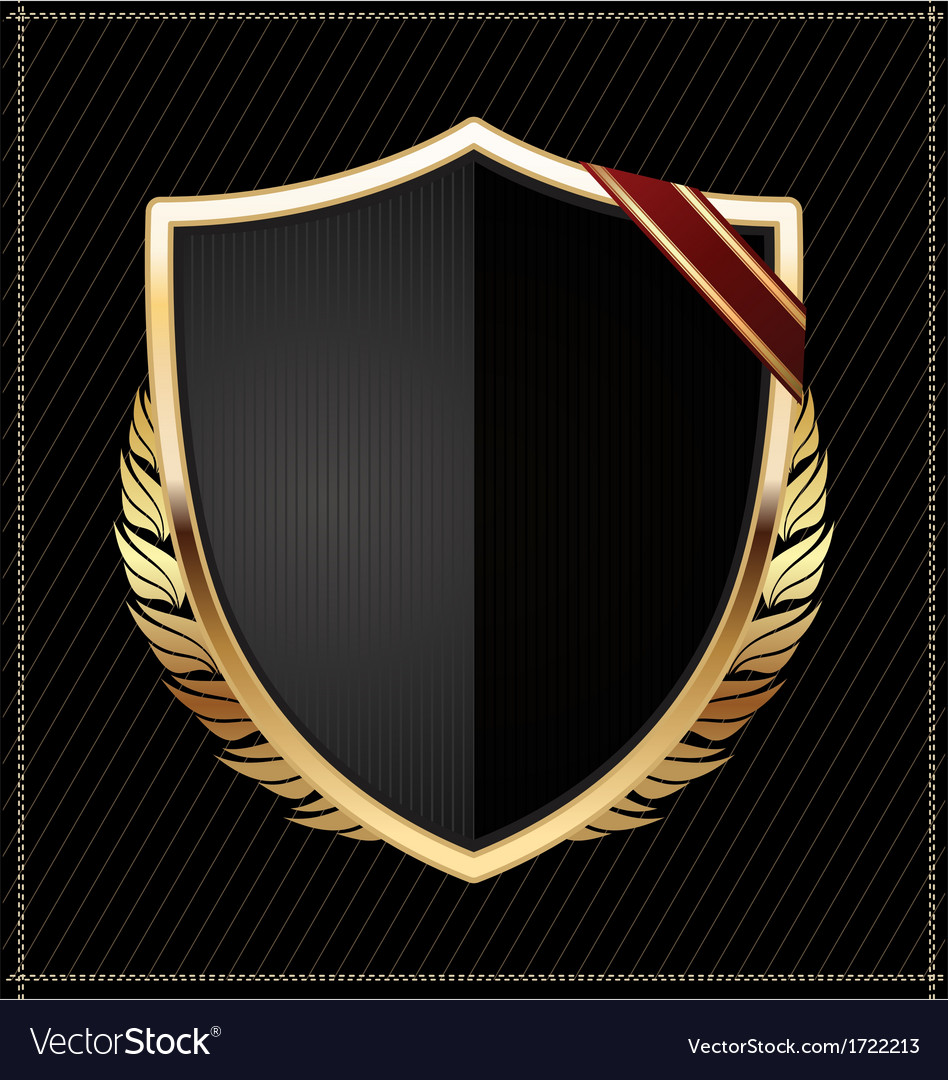 Golden shield vector | Price: 1 Credit (USD $1)