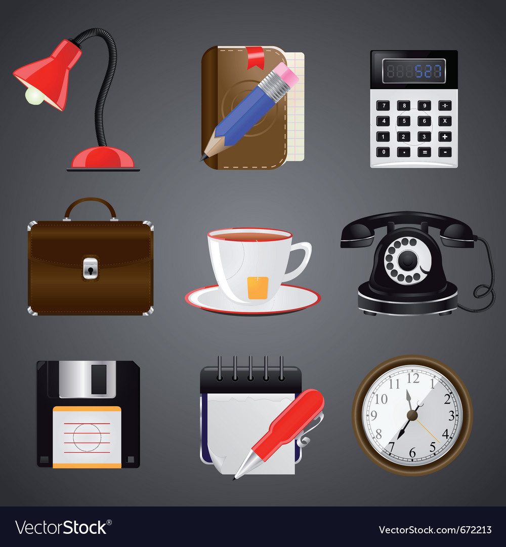 Realistic icons vector | Price: 1 Credit (USD $1)
