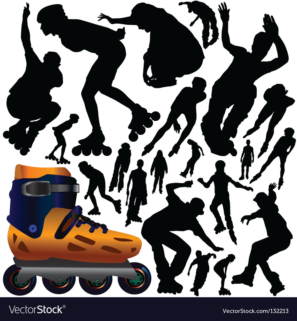 Rollerblade vector | Price: 1 Credit (USD $1)