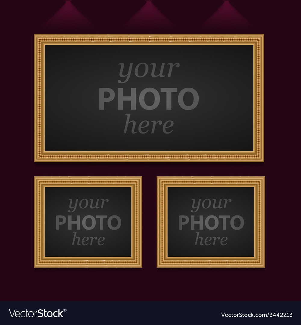 Set of 3 photo frames vector | Price: 1 Credit (USD $1)