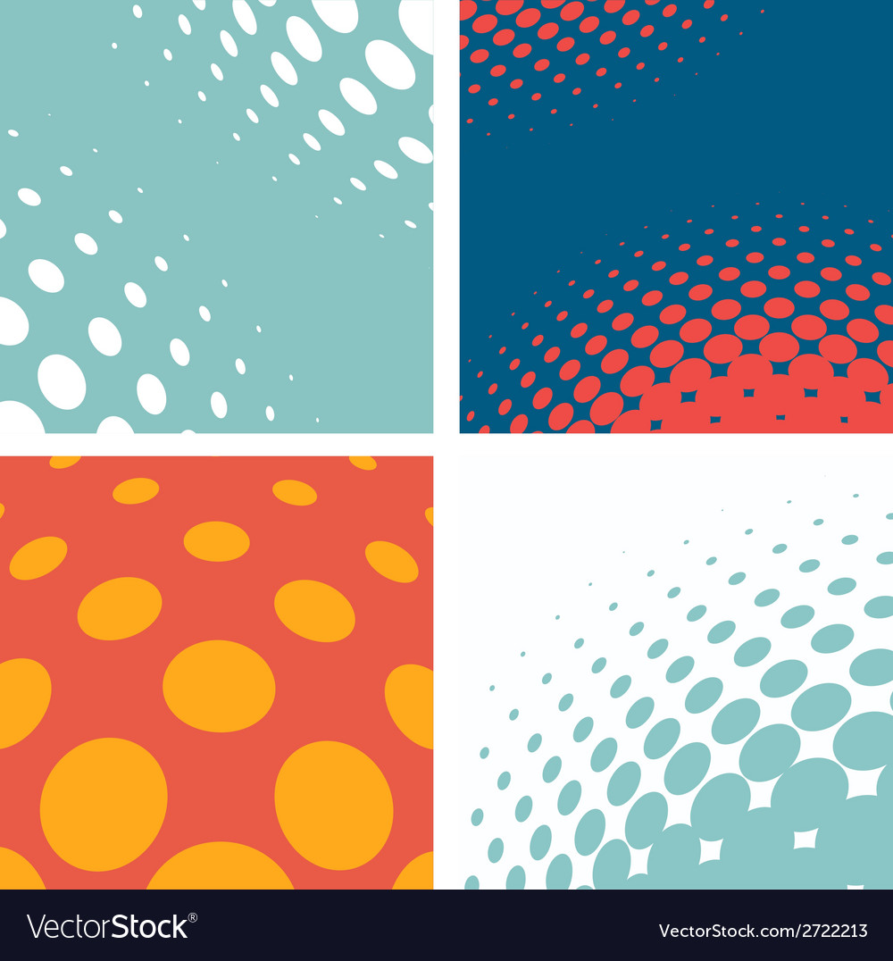 Set of dotted abstract forms vector | Price: 1 Credit (USD $1)