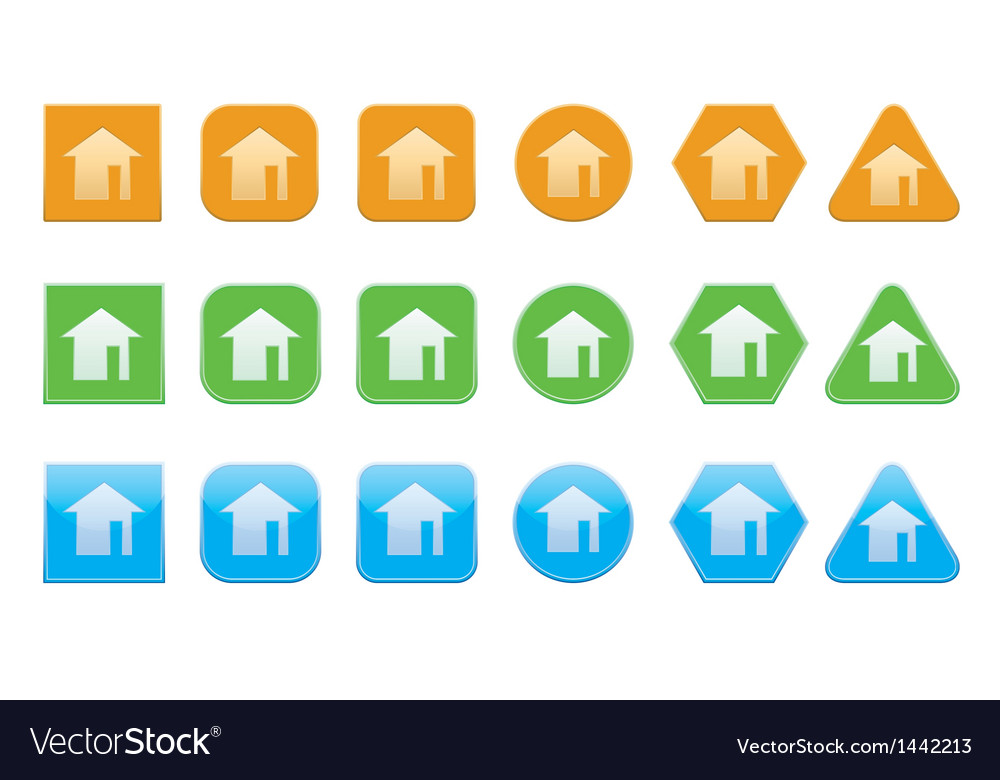 Set of home icons vector | Price: 1 Credit (USD $1)