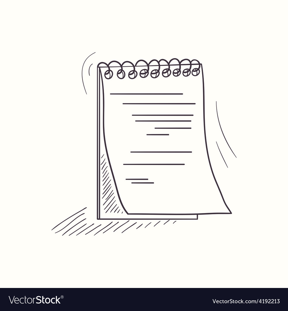 Sketched notebook desktop icon vector | Price: 1 Credit (USD $1)