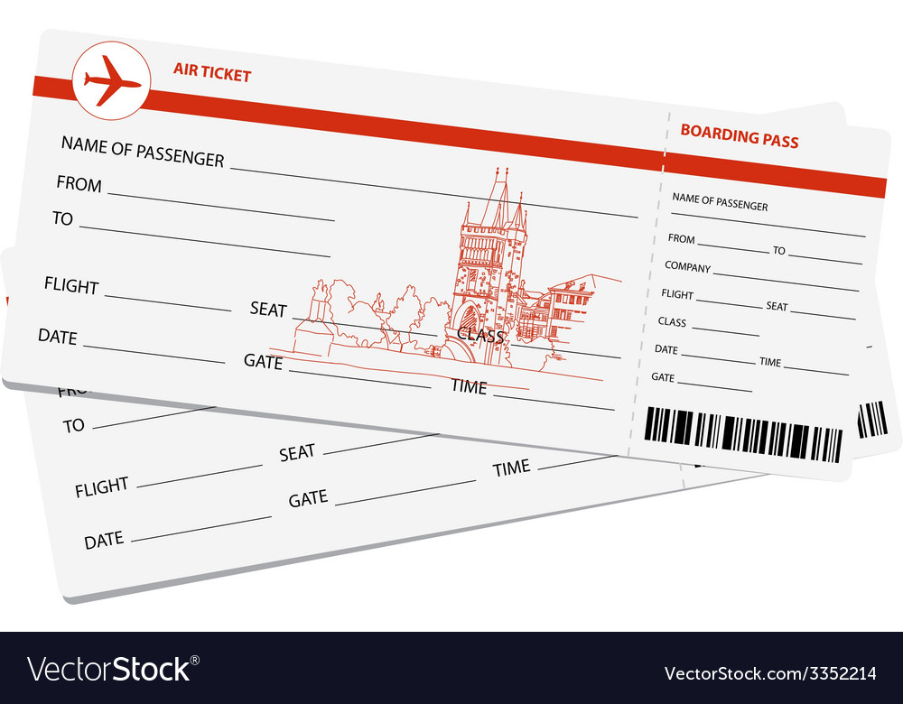 Air tickets vector | Price: 1 Credit (USD $1)