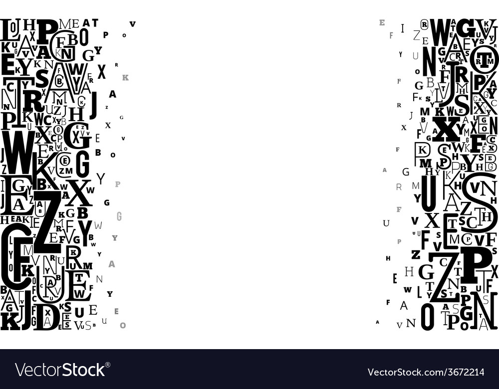 Alphabet background vector | Price: 1 Credit (USD $1)