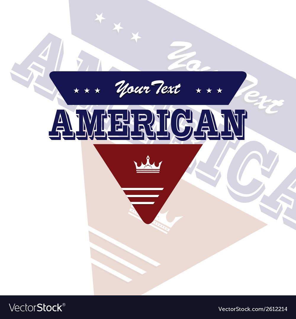 America label vector | Price: 1 Credit (USD $1)