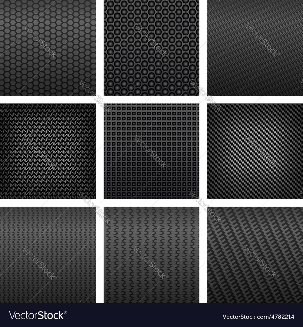 Carbon fiber seamless pattern backgrounds vector | Price: 1 Credit (USD $1)