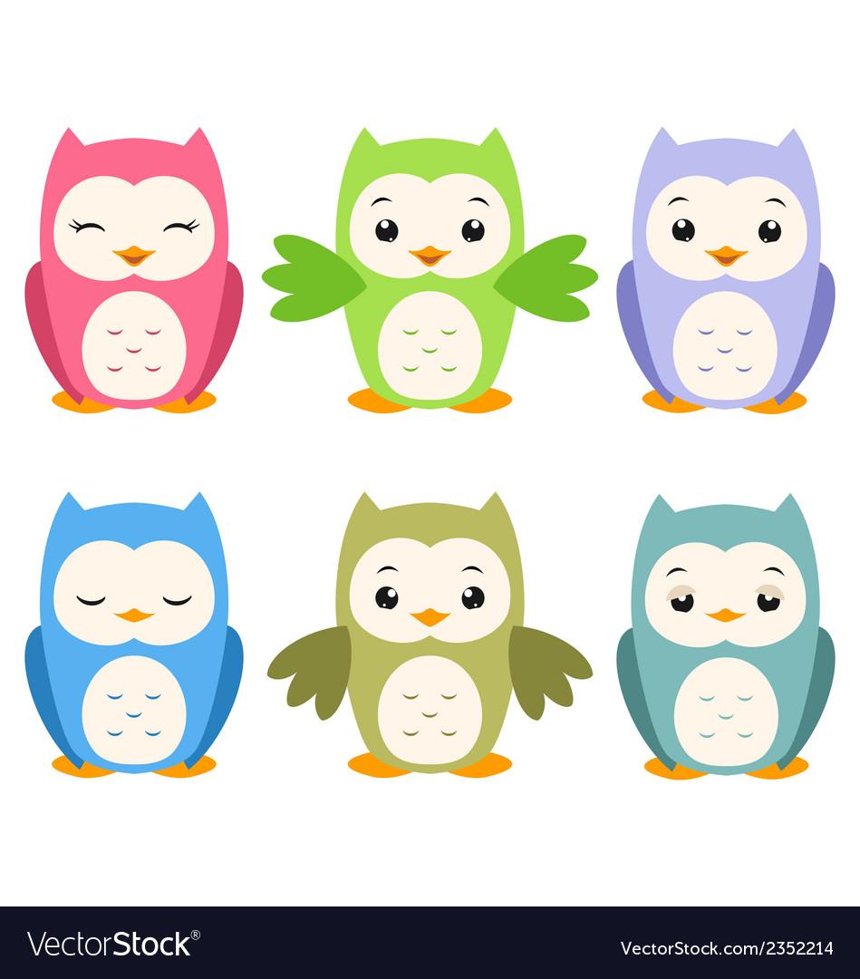 Cartoon owls vector | Price: 1 Credit (USD $1)