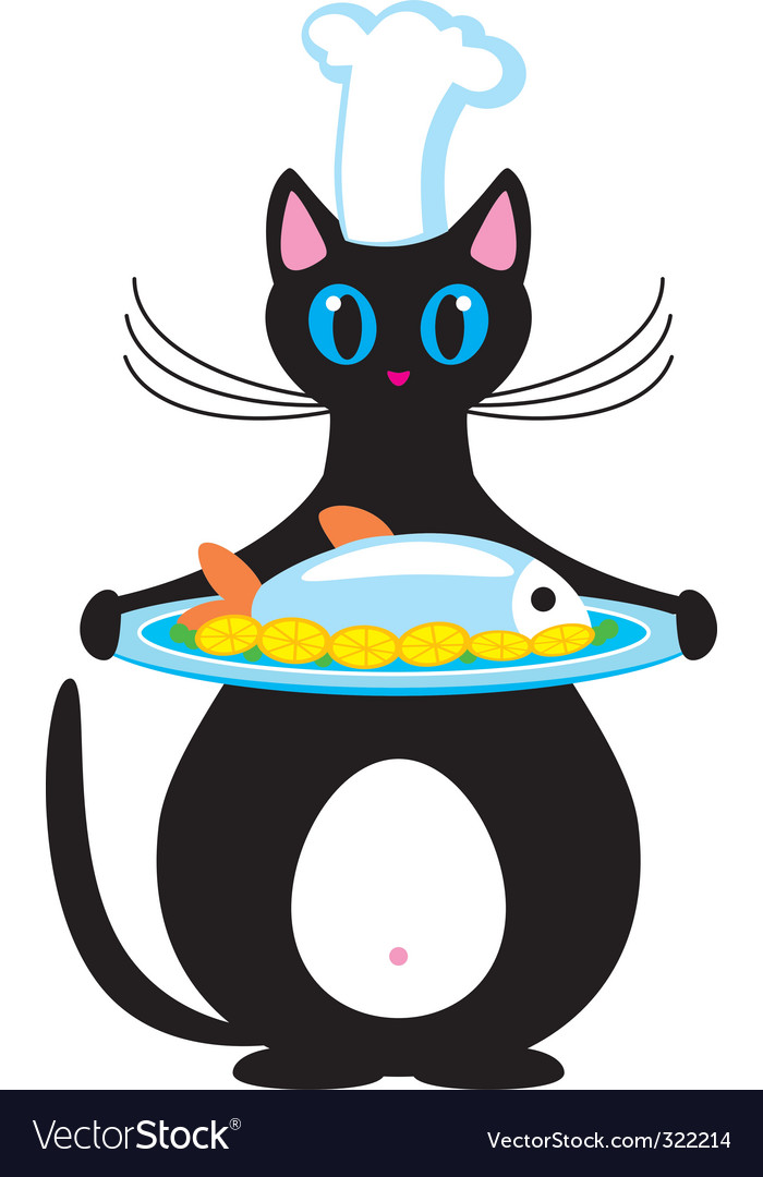 Cat the cook vector | Price: 1 Credit (USD $1)