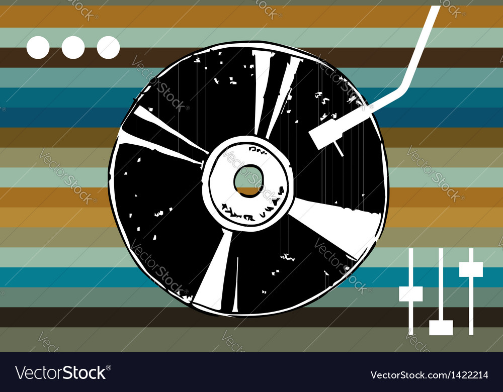 Disco music background vector | Price: 1 Credit (USD $1)