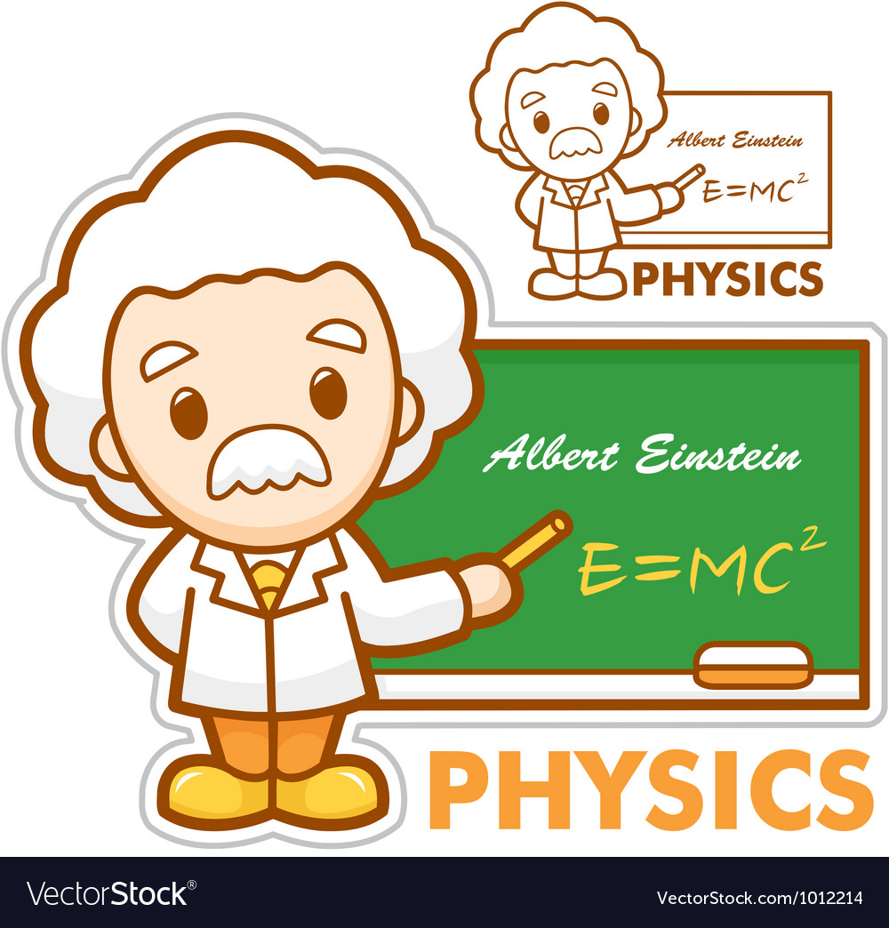 Einstein the father of physics vector