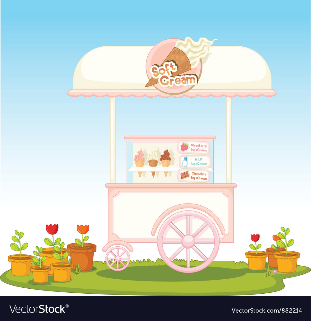 Ice cream cart vector | Price: 3 Credit (USD $3)