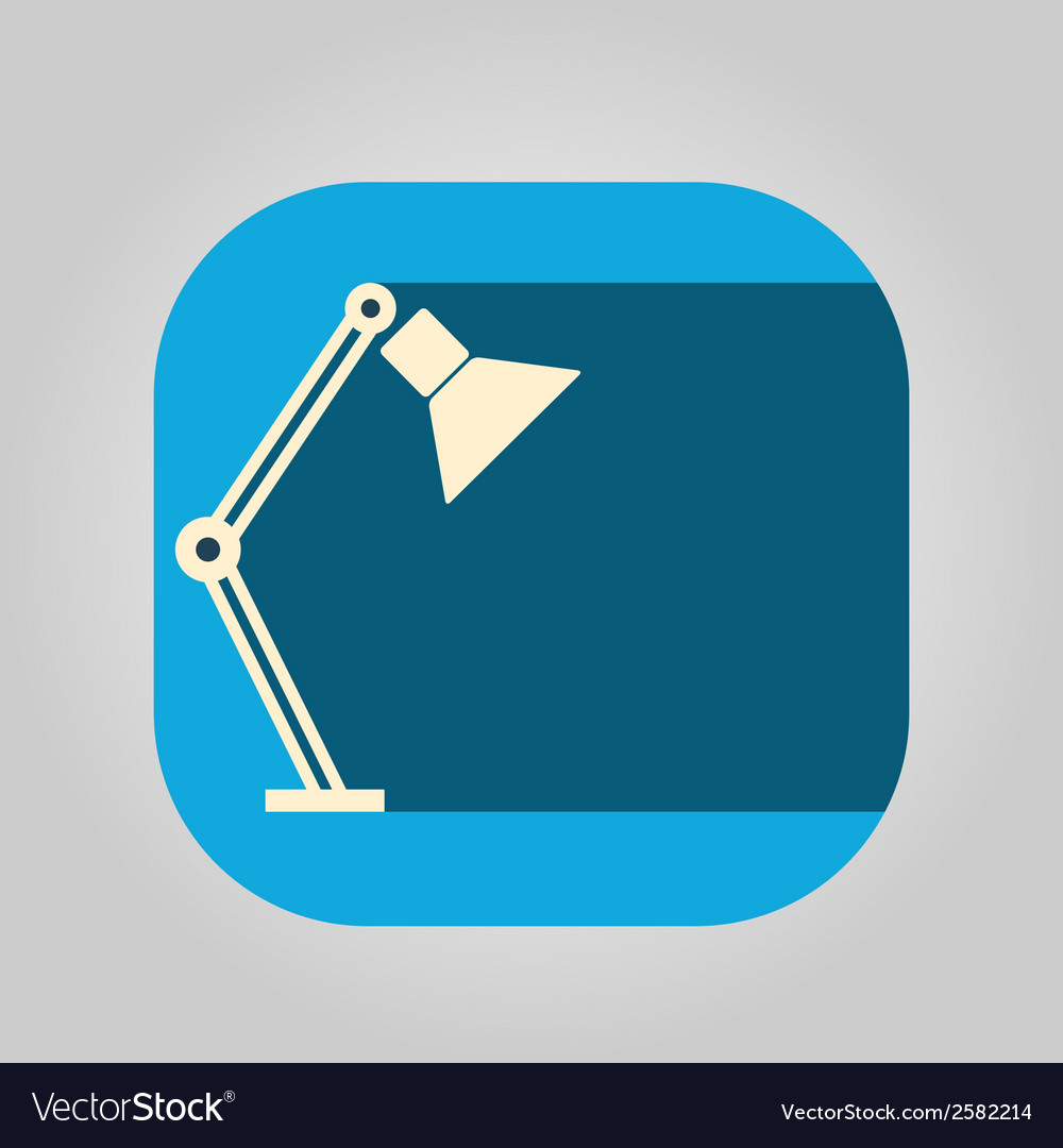 Icon table lamp on a colored background vector | Price: 1 Credit (USD $1)