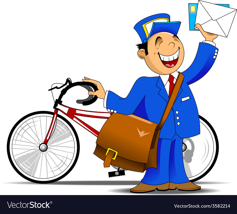 Postman cartoon vector | Price: 1 Credit (USD $1)