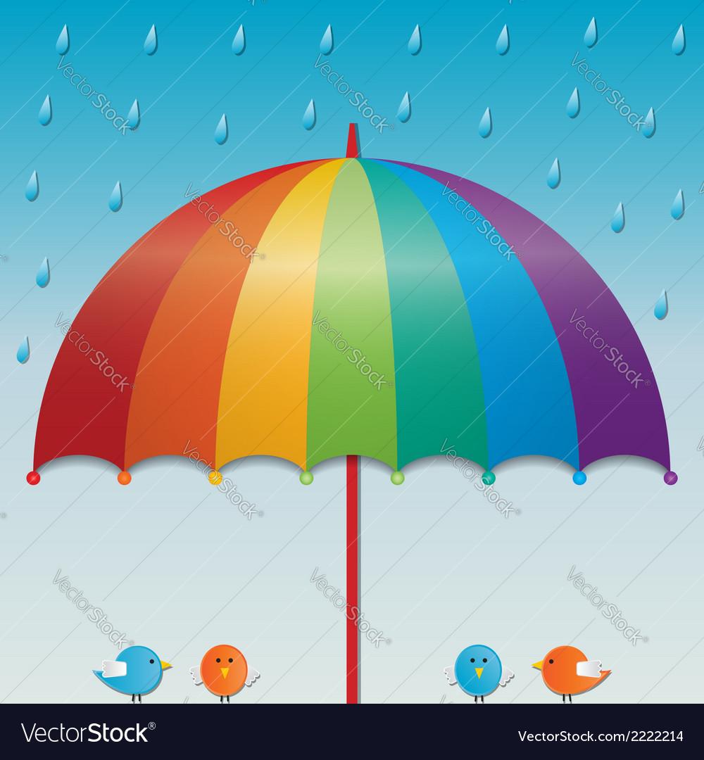 Raining sky background vector | Price: 1 Credit (USD $1)