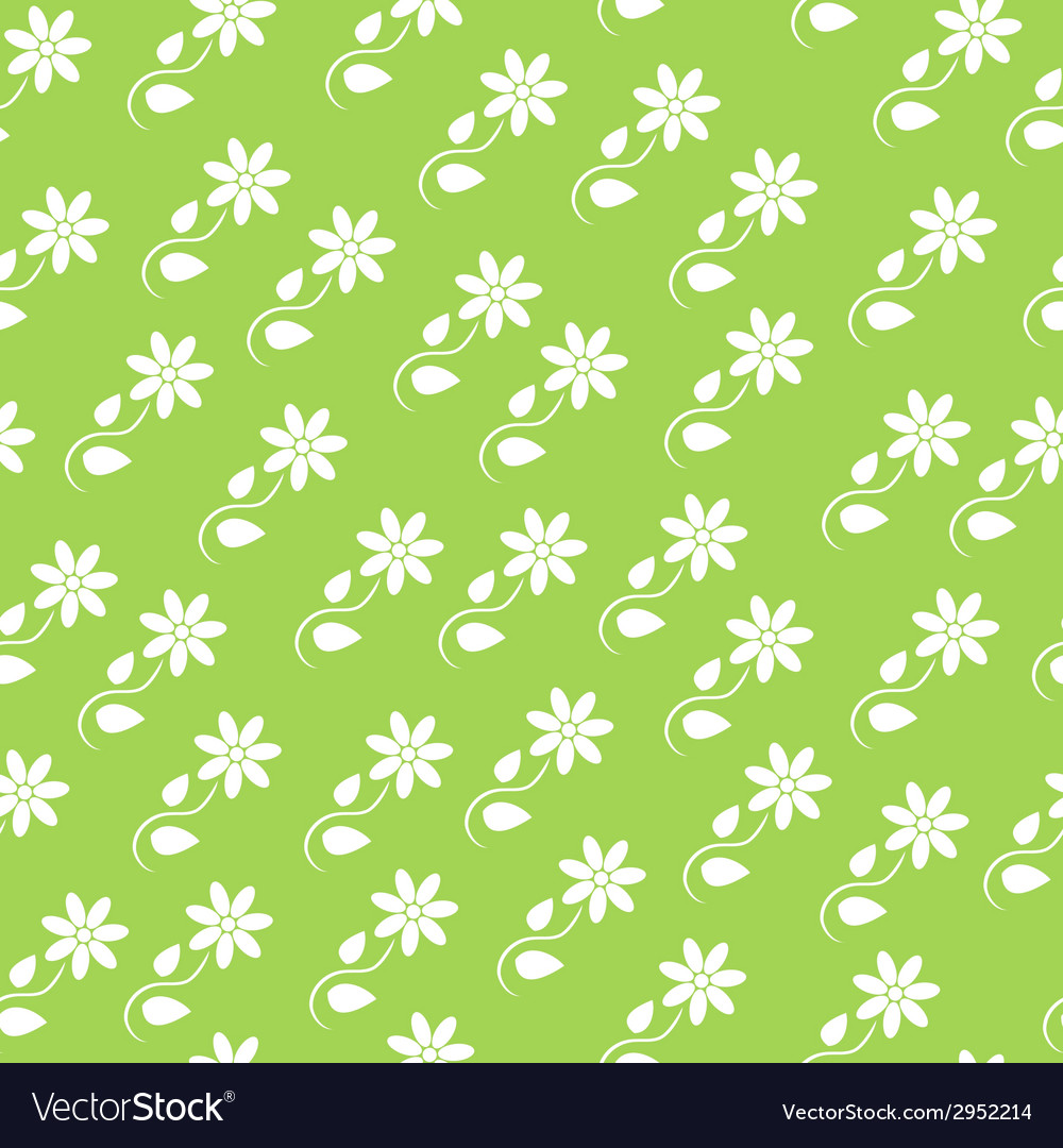Seamless background with silhouettes of flowers vector | Price: 1 Credit (USD $1)
