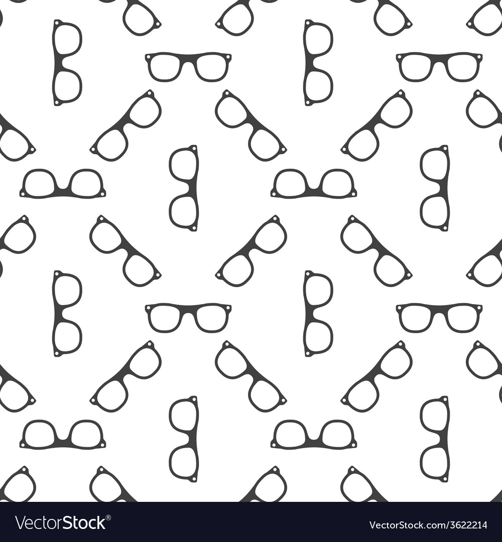 Seamless glasses or spectacles pattern vector | Price: 1 Credit (USD $1)