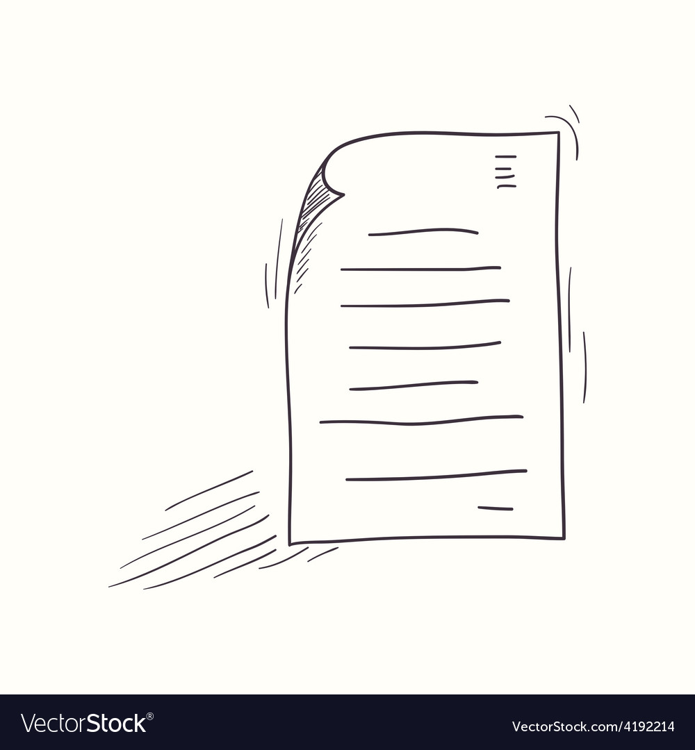 Sketched my document desktop icon vector | Price: 1 Credit (USD $1)