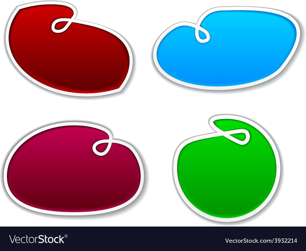 Sling notification paper shapes vector   Price: 1 Credit (USD $1)